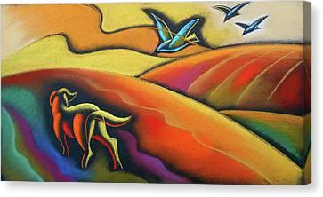 Farm Dog Canvas Print by Leon Zernitsky