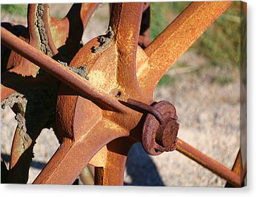 Canvas Print featuring the photograph Farm Equipment 3 by Ely Arsha