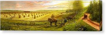Farm - Finland - Field Of Hope 1899 Canvas Print