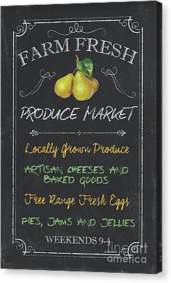 Vintage Sign Canvas Print - Farm Fresh Produce by Debbie DeWitt