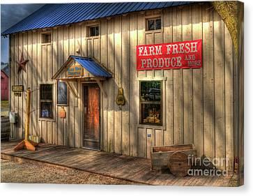 Farm Fresh Produce Canvas Print by Mel Steinhauer