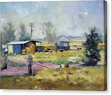 Farm Hayshed At Cowra, Nsw, Australia Canvas Print