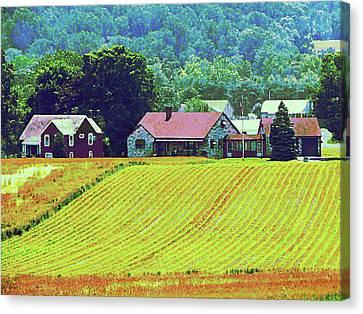 Farm Homestead Canvas Print by Susan Savad