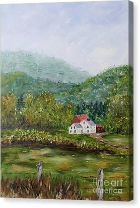 Canvas Print - Farm In The Valley by Stanton Allaben