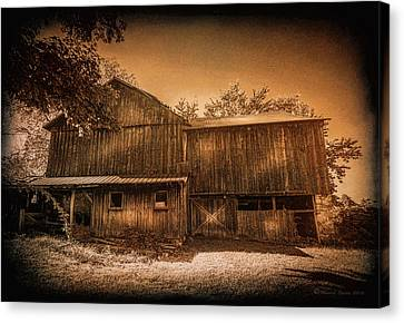 Aging Canvas Print - Farm Memories by Marvin Spates