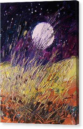 Farm Moon Canvas Print by John Williams