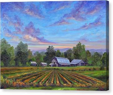 Harvest Canvas Print - Farm On Glenn Bridge by Jeff Pittman