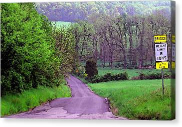 Canvas Print featuring the photograph Farm Road by Susan Carella