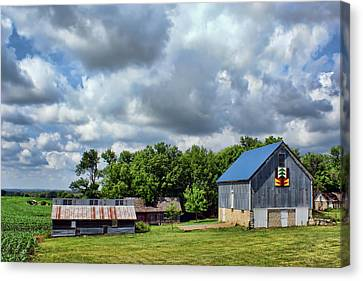 Farm Scene - Barns - Nebraska Canvas Print by Nikolyn McDonald