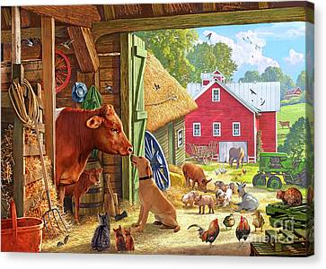 Farm Scene In America Canvas Print by Steve Crisp