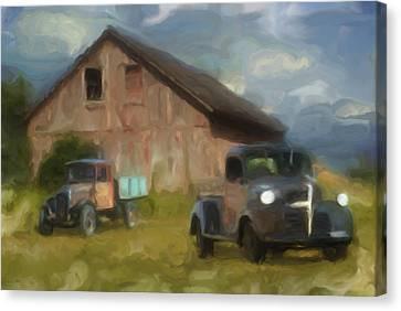 Vintage Painter Canvas Print - Farm Scene by Jack Zulli
