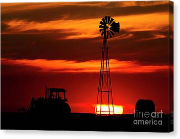 Farm Silhouettes Canvas Print