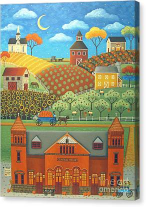Farm To Market Canvas Print by Mary Charles