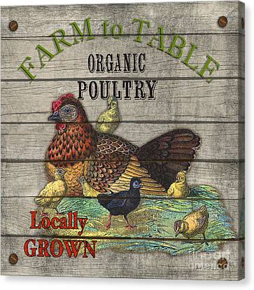 Farm To Table Poultry-jp2630 Canvas Print by Jean Plout