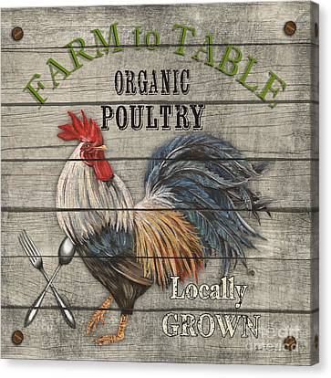 Farm To Table Rooster-jp2628 Canvas Print by Jean Plout