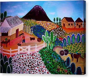 Farm Town Canvas Print
