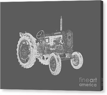 Tractors Canvas Print - Farm Tractor Tee by Edward Fielding