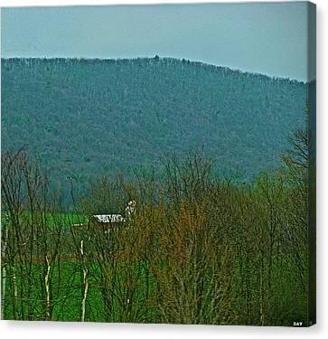 Farm Tucked Mountaintop  Canvas Print by Debra     Vatalaro