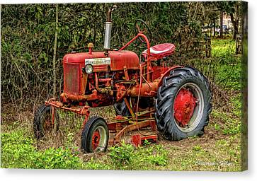 Canvas Print featuring the photograph Farmall Cub by Christopher Holmes