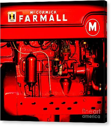 Farmall Engine Detail Canvas Print by Olivier Le Queinec