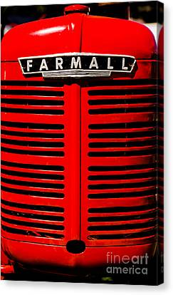 Farmall Grill Canvas Print by Sherman Perry