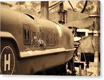 Farmall Logo In Sepia Canvas Print