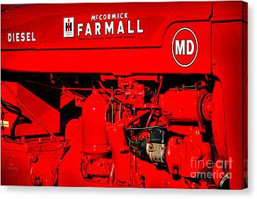 Farmall Md Canvas Print by Olivier Le Queinec