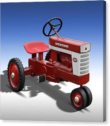 Harvester Canvas Print - Farmall Peddle Tracter by Mike McGlothlen