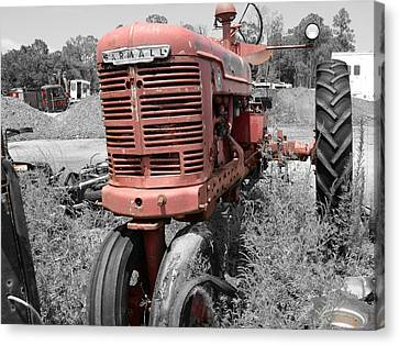 Farmall Red Canvas Print by Lynda Dawson-Youngclaus