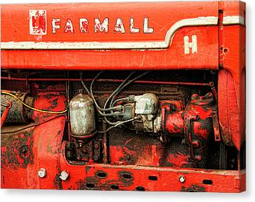 Farmall Tractor - Old Reliable Canvas Print by Mitch Spence