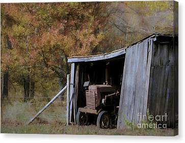 Canvas Print featuring the photograph Farmall Tucked Away by Benanne Stiens