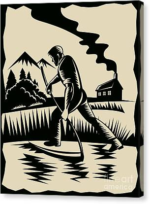 Farmer With Scythe Canvas Print by Aloysius Patrimonio
