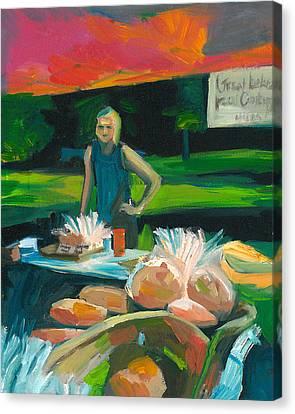 Farmer's Market Bakery Canvas Print