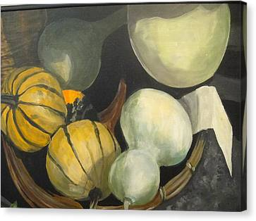 Farmer's Market Gourds Canvas Print