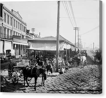 Farmers Market New Orleans Ca 1900 Canvas Print