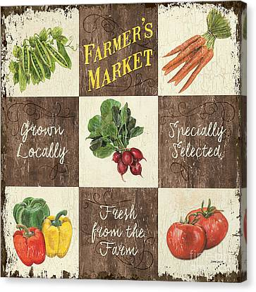 Farmer's Market Patch Canvas Print by Debbie DeWitt