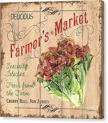 Local Food Canvas Print - Farmer's Market Sign by Debbie DeWitt