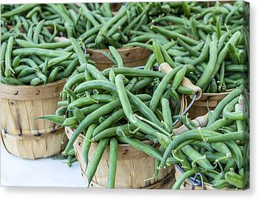 Farmers Market String Beans Canvas Print by Teri Virbickis