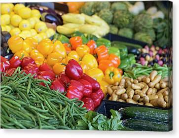 Farmer's Market Veggies Canvas Print