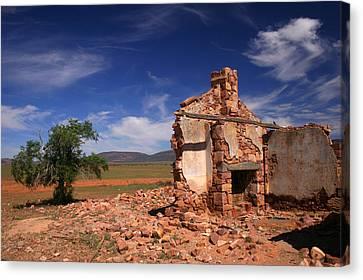 Farmhouse Cottage Ruin Flinders Ranges South Australia Canvas Print