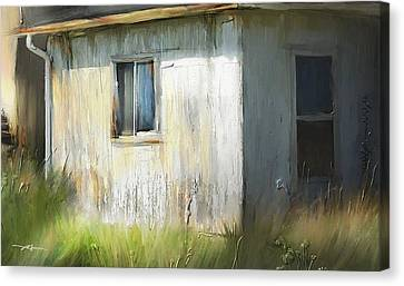 Farmhouse Detail Port Albert Ontario Canvas Print by Bob Salo