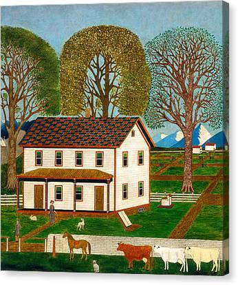 Farmhouse In Mahantango Valley Canvas Print