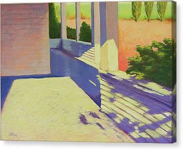 Farmhouse Porch Canvas Print by Mary McInnis