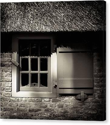 Sepia Vintage Farmhouse Canvas Print - Farmhouse Window by Dave Bowman