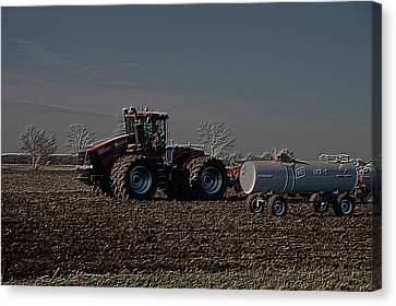 Farming April In The Field On The Case 500 Pa Canvas Print