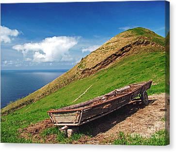 Farming In Azores Islands Canvas Print by Gaspar Avila