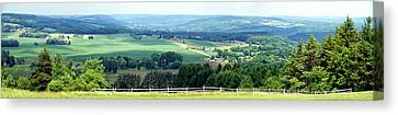 Farming Panorama Finger Lakes New York Canvas Print by Thomas Woolworth