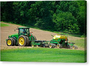Farming The Field Canvas Print