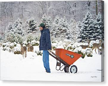 Canvas Print featuring the photograph Farmlife by Angel Cher