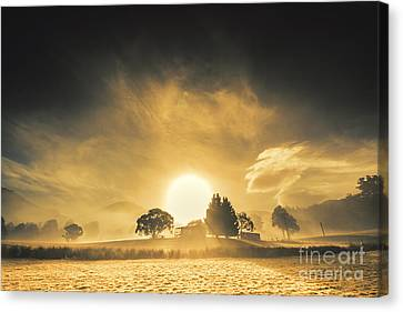 Farmyards And Silhouettes Canvas Print by Jorgo Photography - Wall Art Gallery